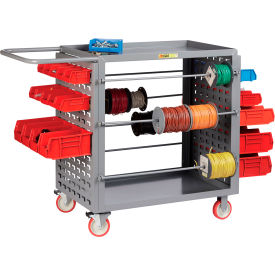 "little giant® wire reel cart with louvered ends, 24""w x 54.25""l x 41.5""h Little Giant® Wire Reel Cart with Louvered Ends, 24""W x 54.25""L x 41.5""H"