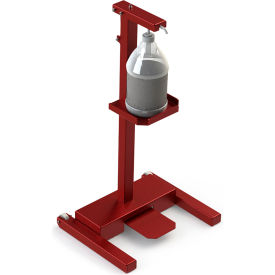 built systems carbon steel hands-free sanitizer station, signal red - 122877-3001 Built Systems Carbon Steel Hands-Free Sanitizer Station, Signal Red - 122877-3001