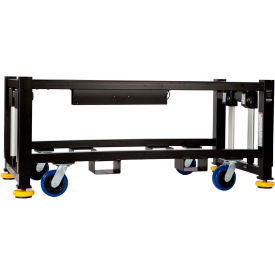 "built systems 84""w x 42""d machine base - 3500lb capacity - black Built Systems 84""W x 42""D Machine Base - 3500LB Capacity - Black"