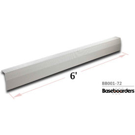 baseboarders® premium series 6 ft steel easy slip-on baseboard heater cover, white Baseboarders® Premium Series 6 ft Steel Easy Slip-on Baseboard Heater Cover, White