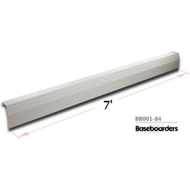 baseboarders® premium series 7 ft steel easy slip-on baseboard heater cover, white Baseboarders® Premium Series 7 ft Steel Easy Slip-on Baseboard Heater Cover, White