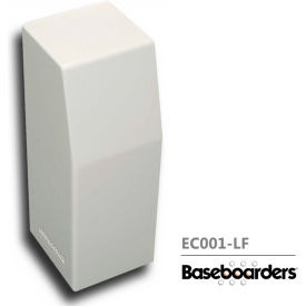baseboarders® premium series steel easy slip-on baseboard left side closed endcap, white Baseboarders® Premium Series Steel Easy Slip-on Baseboard Left Side CLOSED Endcap, White