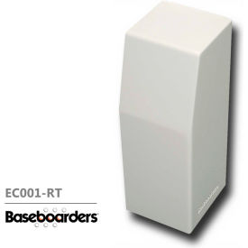 baseboarders® premium series steel easy slip-on baseboard right side closed endcap, white Baseboarders® Premium Series Steel Easy Slip-on Baseboard Right Side CLOSED Endcap, White