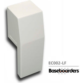 baseboarders® premium series steel easy slip-on baseboard left side open endcap, white Baseboarders® Premium Series Steel Easy Slip-on Baseboard Left Side OPEN Endcap, White