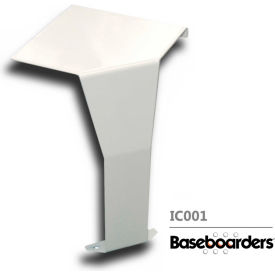 baseboarders® premium series steel easy slip-on baseboard inside 90 degree corner, white Baseboarders® Premium Series Steel Easy Slip-on Baseboard Inside 90 Degree Corner, White