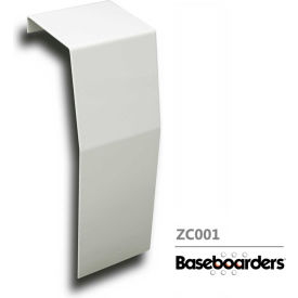 baseboarders® premium series steel easy slip-on baseboard zero clearance endcap, white Baseboarders® Premium Series Steel Easy Slip-on Baseboard Zero Clearance Endcap, White