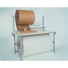 packing/dispensing table with cutter, plastic laminate square edge - 64 x 30