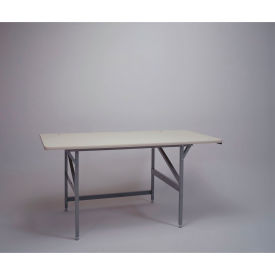 standard work table, plastic laminate safety edge - 84 x 36