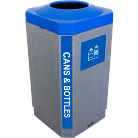 busch systems indoor octo container - cans & bottles, 32 gallon - graystone/blue - 104451 Busch Systems Indoor Octo Container - Cans & Bottles, 32 Gallon - Graystone/Blue - 104451