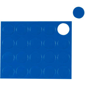 "FM1601 Whiteboard Magnets - 3/4"" Circles - Blue - 20/Pack"