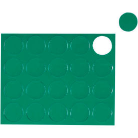 "FM1602 Whiteboard Magnets - 3/4"" Circles - Green - 20/Pack"