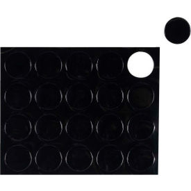 "FM1605 Whiteboard Magnets - 3/4"" Circles - Black - 20/Pack"