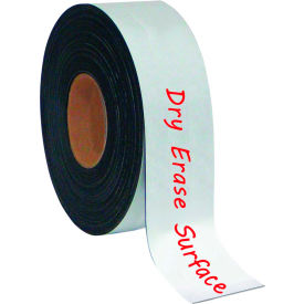 "FM2118 MasterVision White Magnetic Write-on wipe-off Tape Rolls 2""x 50 ft."