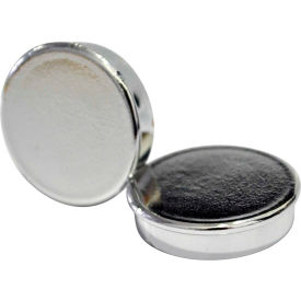 "IM130809 MasterVision 1"" Super Magnets Silver 10 ct"
