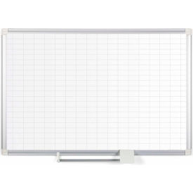 "MA0392830 Magnetic Planning Board - 1x2 Grid - 36""W x 24""H - Steel Surface"