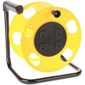 SL-2000PDQ Bayco; Add-A-Cord Quad Tap Cord Reel W/Circuit Breaker SL-2000PDQ, Yellow