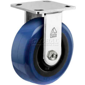 "CPR60156SS-EAG11(BK) Bassick; Prism Stainless Steel Rigid Caster - Eagle Urethane - 6"" Dia."