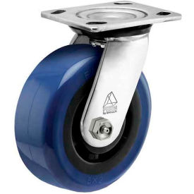 "CPS50156SS-EAG11(BK) Bassick; Prism Stainless Steel Swivel Caster - Eagle Urethane - 5"" Dia."