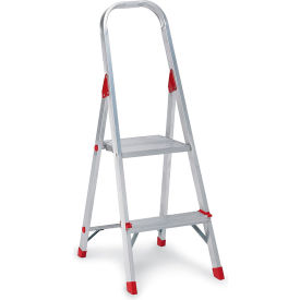 L-2346-02*** Louisville Type III Aluminum Platform Ladder - 2 Step - L-2346-02