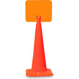 "03-550-BLCH Snap-On Signs For Traffic Cones - 14""Wx10""H - Blank"