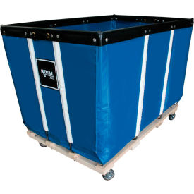 "R20-BBW-PMA-3UNN 20 BU-Standard-Duty Basket Trucks By Royal - Vinyl Liner - 32""Wx48""Dx36""H 4 Swivel Casters-Blue"