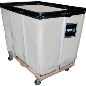 "R20-CCW-PMA-3UNN 20 BU-Std-Duty Basket Trucks By Royal - Cotton Canvas Liner - 32""Wx48""Dx36-1/2""H 4 Swivel Casters"