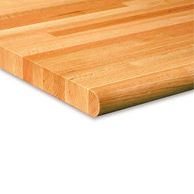 "OSC012-V W/BULLNOSE Unbranded Global Industrial 1-3/4"" Varnique Finished Oak Butcher Block Top - 60X30"" - Safety Edge"