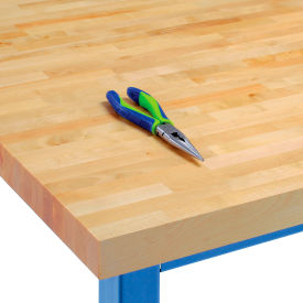 "WBT7236-V VARNIQUE 72""W x36""D x 1-3/4"" Thick, Finished Birch Butcher Block Square Edge Workbench Top"
