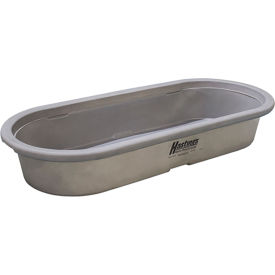 "hastings poly stock tank hp20104 round-end 60 gallon 53""l x 33""w x 12-1/2""h no drain plug - gray Hastings Poly Stock Tank HP20104 Round-End 60 Gallon 53""L x 33""W x 12-1/2""H No Drain Plug - Gray"