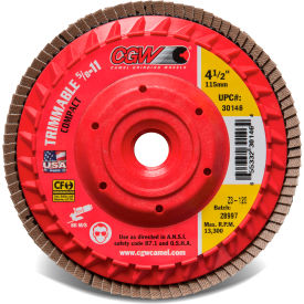 "30144 CGW Abrasives 30144 Trimmable Flap Discs with Built in Hub 4-1/2"" x 5/8-11"" 60 Grit Zirconia"