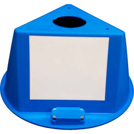 inventory control cone, 3 sided with magnets & dry erase decals - blue Inventory Control Cone, 3 Sided with Magnets & Dry Erase Decals - Blue