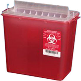 plasti-products 141020 5-quart sharps container, horizontal entry, red, case of 20 Plasti-Products 141020 5-Quart Sharps Container, Horizontal Entry, Red, Case of 20