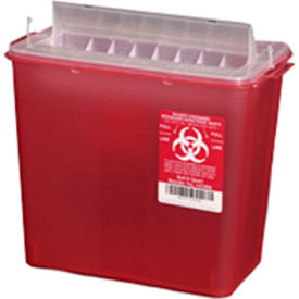 plasti-products 145008 8-quart sharps container, horizontal entry, red, case of 20 Plasti-Products 145008 8-Quart Sharps Container, Horizontal Entry, Red, Case of 20