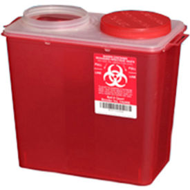 plasti-products 146008 8-quart big mouth sharps container, red, case of 20 Plasti-Products 146008 8-Quart Big Mouth Sharps Container, Red, Case of 20