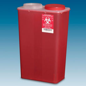 plasti-products 146014 14-quart big mouth sharps container, red, case of 10 Plasti-Products 146014 14-Quart Big Mouth Sharps Container, Red, Case of 10
