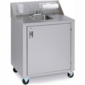 crown verity® cv-phs-1c cold water portable hand sink cart Crown Verity® CV-PHS-1C Cold Water Portable Hand Sink Cart