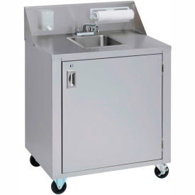 crown verity® cv-phs-4c single bowl cold water portable hand sink cart Crown Verity® CV-PHS-4C Single Bowl Cold Water Portable Hand Sink Cart
