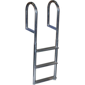 dock edge dock ladder 3 step fixed wide step, welded aluminum - 2043-f Dock Edge Dock Ladder 3 Step Fixed Wide Step, Welded Aluminum - 2043-F