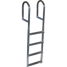 dock edge dock ladder 4 step fixed wide step, welded aluminum - 2044-f Dock Edge Dock Ladder 4 Step Fixed Wide Step, Welded Aluminum - 2044-F