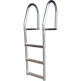 dock edge dock ladder 3 step fixed eco weld free, aluminum - 2073-f Dock Edge Dock Ladder 3 Step Fixed ECO Weld Free, Aluminum - 2073-F