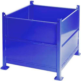 "R2GS-01-BLUE Davco Sheet Metal Steel Container R2GS-01 - 40-1/2""x34-1/2""x32"" 2 Gates Blue"