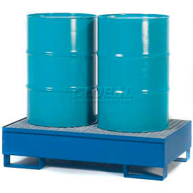 K17-3102 Denios K17-3102 2 Drum Steel Spill Pallet - Painted Steel