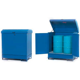 "K17-3502 Hazmat Outdoor 2 Drum Storage Station w/Containment, 54""W x 34""D x 55""H"
