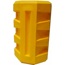 "CP-8X10 Poly Structural Column Protector, 8-1/4"" x 10-1/4"" Rectangle Opening, Yellow"