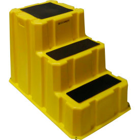 "NST-3-14 3 Step Nestable Plastic Step Stand - Yellow 25-3/4""W x 42""D x 29""H - NST-3-14"