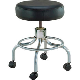 "13034 Drive Medical 13034 Deluxe Wheeled Round Stool, 14"" Seat, 17.5""-24"" Adjustable Height"