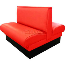 "dm seating - 36""h double upholstered booth, dbd-36-red, plain back, red"