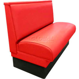 "dm seating - 36""h single upholstered booth, dbs-36-red, plain back, red"