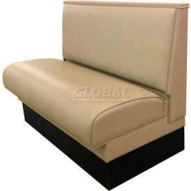 "dm seating - 36""h single upholstered booth, dbs-36-tan, plain back, tan"