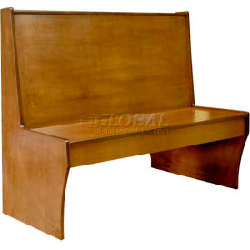 "dm seating - 42""h single wood booth, dbs42-cw-cherry, cherry"